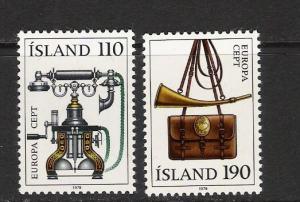 ICELAND 515-516 MOG EUROPA J538
