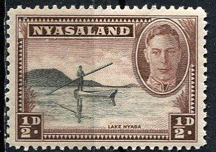 Nyasaland; 1945: Sc. # 68: **/MNH Single Stamp