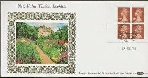 23/8/1988 £1.08 NEW VALUE WINDOW BOOKLET FDC