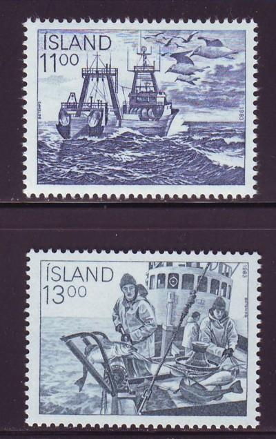 Iceland Sc 575-6 1983 Fishing Industry  stamps mint NH