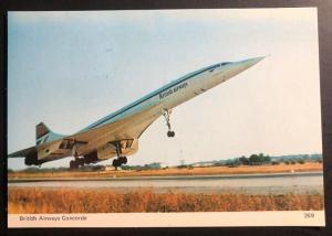 1976 Bahrain RPPC Postcard cover Inaugural Flight Concorde British Airways