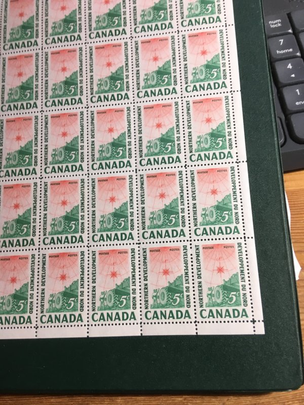 Canada #391 Plate 1 UL Sheet Of 50 Stamps VF-NH USC Cat. $23.+ 5c Northern Dev.