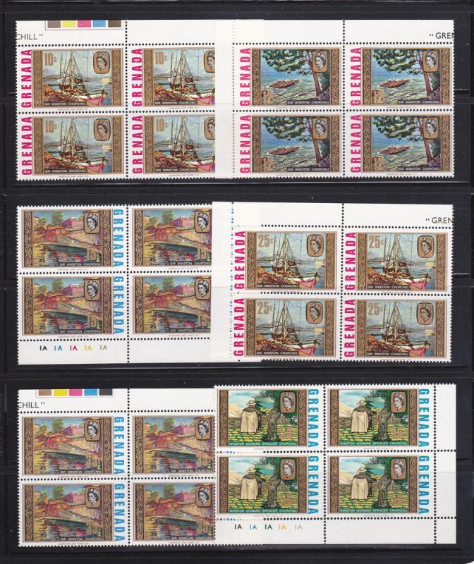 Grenada 274-279 Blocks of 4 Set MNH Art, Paintings (B)