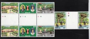 KENYA #84-87  1977 QEII SILVER JUBILEE  MINT  VF NH  O.G  GUTTER PRS.  b