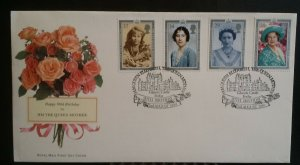 GB 1990 90th Birthday HM Queen Elizabeth Queen Mother  Glamis Forfar Handstamp