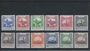 JORDAN 1947 OBLIGATORY TAX SET OF TWELVE MM SG T264/T275 CAT £375