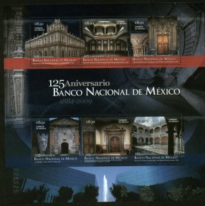 MEXICO 2619, NATIONAL BANK OF MEXICO, 125th ANNIVERSARY, SS. MINT NH. VF.