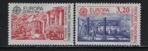 ANDORRA, 391-392, HINGED, 1990, EUROPA