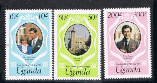 Uganda 314-16 Set MNH Royal Wedding  (U0046)