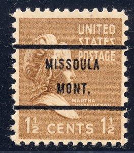 Missoula MT, 805-71 Bureau Precancel, 1½¢ M. Washington