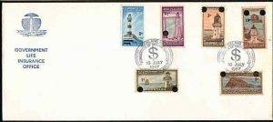 NEW ZEALAND GOVT LIFE 1967 Decimal opt set FDC ACS cat NZ$125..............33614