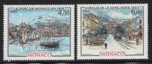 Monaco 1985 Belle Epoch Paintings set Sc# 1488-89 NH