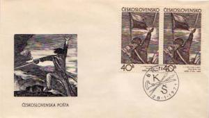 Czechoslovakia, First Day Cover, Art, Military Related