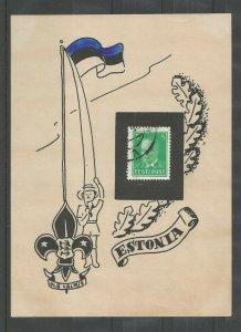 Estonia Boy Scout flag raising sheetlet