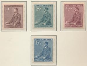 Bohemia and Moravia (Czechoslovakia) Stamps Scott #B9 To B12, Mint Never Hing...