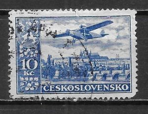 Czechoslovakia C16 10k 1930 Airmails single Used (z3)