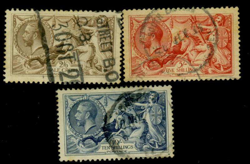 Great Britain #179-81 Used VF Cat$360