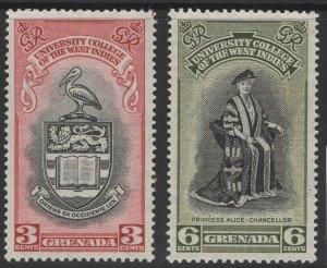 GRENADA SG185/6 1951 BWI UNIVERSITY COLLEGE MTD MINT