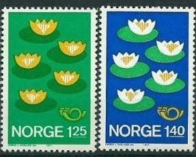 Norway 1977 #688-9 MNH. Nordic countries