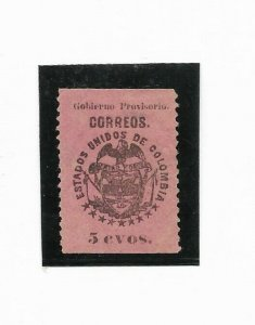 COLOMBIA year 1900 Scott 177 Michel 177 5 CENTS  Pink Paper MINT HINGED VF