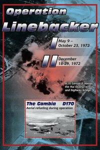 2020/11- GAMBIA - VIETNAM WAR OPERATION LINEBACKER   1V  complet set    MNH ** T