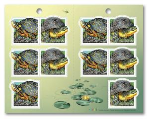 New! _ TURTLE = ENDANGERED species = Booklet of 10 stamps MNH-VF Canada 2019