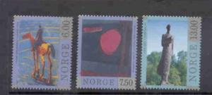 Norway Sc 1198-01 1998 Contemporary Art stamp set