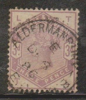 GREAT BRITAIN  Scott # 102 Used - QV With Nice Aldermanbury CDS