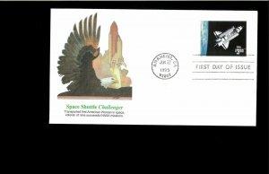 1995 FDC $3.00 Challenger Shuttle Anaheim CA