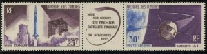 COMORO IS. Sc#C16a 1966 French Satellite A-1 Strip w/ Label Complete Mint OG NH