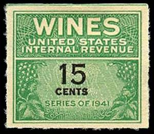 U.S. REV. WINES RE127  Mint (ID # 36105)