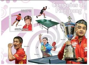 GUINEA BISSAU 2009 SHEET TABLE TENNIS PING PONG CHAMPIONS