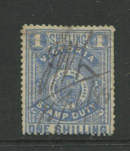 STAMP STATION PERTH: Australia Victoria #? Used 1879? Single 1/- Stamp