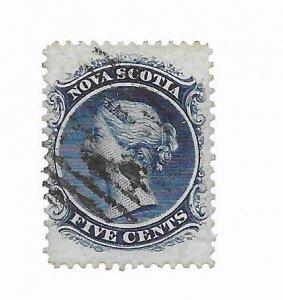 Nova Scotia #10 Used - Stamp - CAT VALUE $5.00