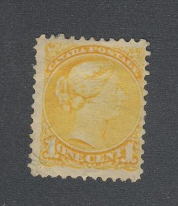 Canada Small Queen MNG Stamp #35-1c F/VF Mint No Gum HR Guide Value = $40.00