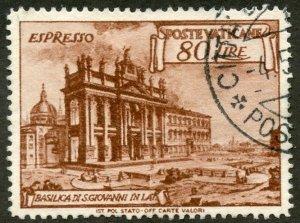 Vatican City Scott E12a UVFVLH - St. Peters Basilica - SCV $32.50
