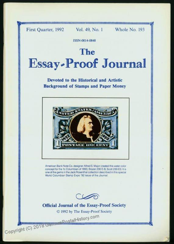 Essay-Proof Journal No 195 Federal Banknotes 44685