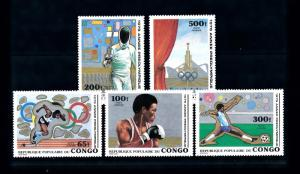 [60977] Congo Brazzaville 1979 Olympic games Moscow Fencing Boxing Football MNH