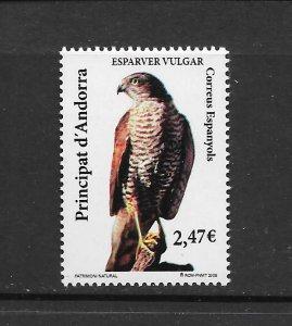 BIRDS - ANDORRA (SP) #352  SPARROW HAWK   MNH