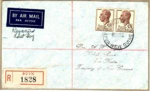 PAPUA NEW GUINEA..1952 Registered cover with Australian stamps. BUIN