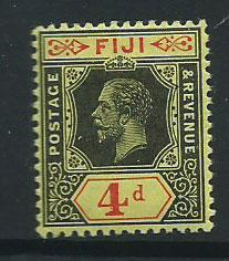 Fiji  GV  SG 131c  MH on pale yellow