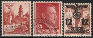 Stamp Selection Germany Poland WWII 3rd Reich Hitler Occupation 2 Used