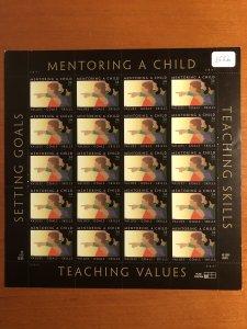 US #3556 Pane of 20 MNH - Mentoring a Child