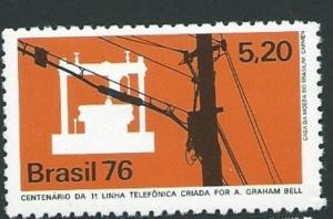 BRAZIL SG1578 1978 TELEPHONE CENTENARY MNH