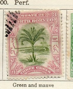 North Borneo 1897-1900 Early Issue Fine Used 3c. NW-113868