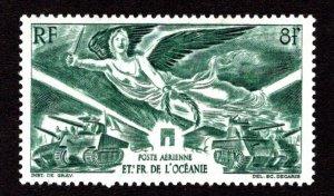 FRENCH POLYNESIA SC# C10  FVF/MOG  1946