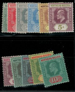Northern Nigeria 1910-1911 SC 28-38 Mint SCV $145.00 set