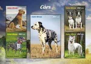Guinea-Bissau - 2019 Dog Breeds - 5 Stamp Sheet - GB190102a