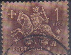 PORTUGAL, 1953, used 1e, Medieval Knight