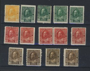 14x Canada Admiral Mint Stamps #104-104BP-105 3x106-106BP-108-3x109+ GV=$155.00